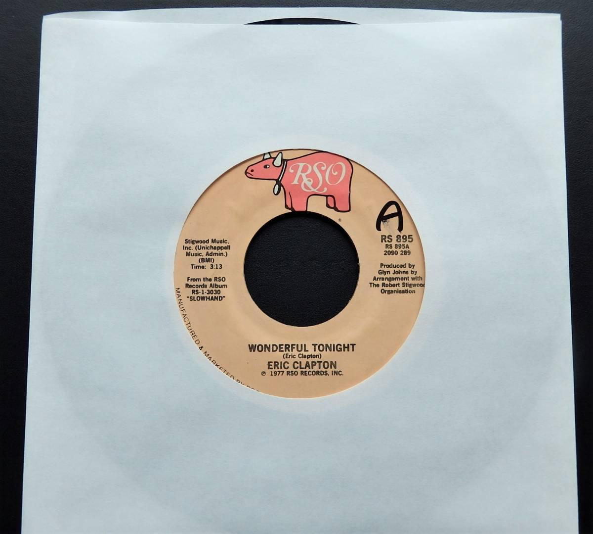 【USオリジナル7インチEP/4枚まとめて送料無料/1977年盤】ERIC CLAPTON/Wonderful Tonight b/w Peaches And Diesel_画像1