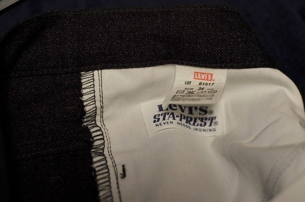 ★【希少 日本製 LVC復刻モデル】Levi's リーバイス 81517 スタプレパンツ ブーツカット 517 W34 スモーキーブラック USED 定価18,360 円_画像9