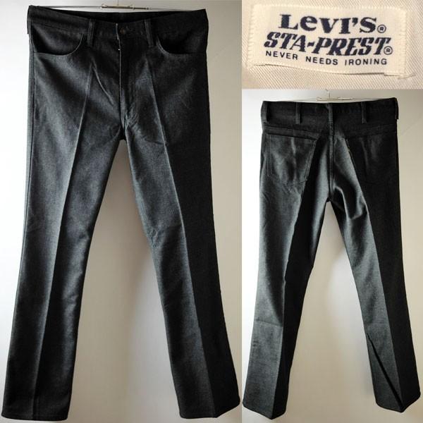 ★【希少 日本製 LVC復刻モデル】Levi's リーバイス 81517 スタプレパンツ ブーツカット 517 W34 スモーキーブラック USED 定価18,360 円