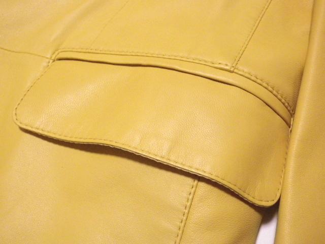 ◆TANINO CRISCI/タニノクリスチー◆超稀少!極上 とろとろラムレザー 羊革 テーラードジャケット【46】(L相当)_画像6