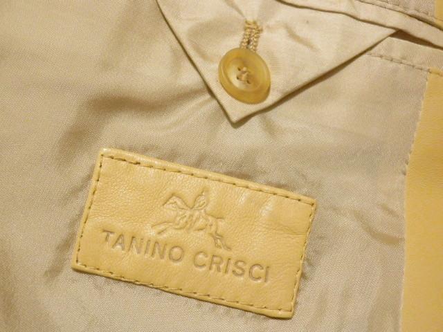 ◆TANINO CRISCI/タニノクリスチー◆超稀少!極上 とろとろラムレザー 羊革 テーラードジャケット【46】(L相当)_画像9