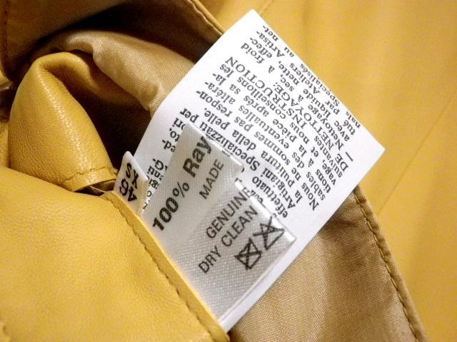 ◆TANINO CRISCI/タニノクリスチー◆超稀少!極上 とろとろラムレザー 羊革 テーラードジャケット【46】(L相当)_画像10