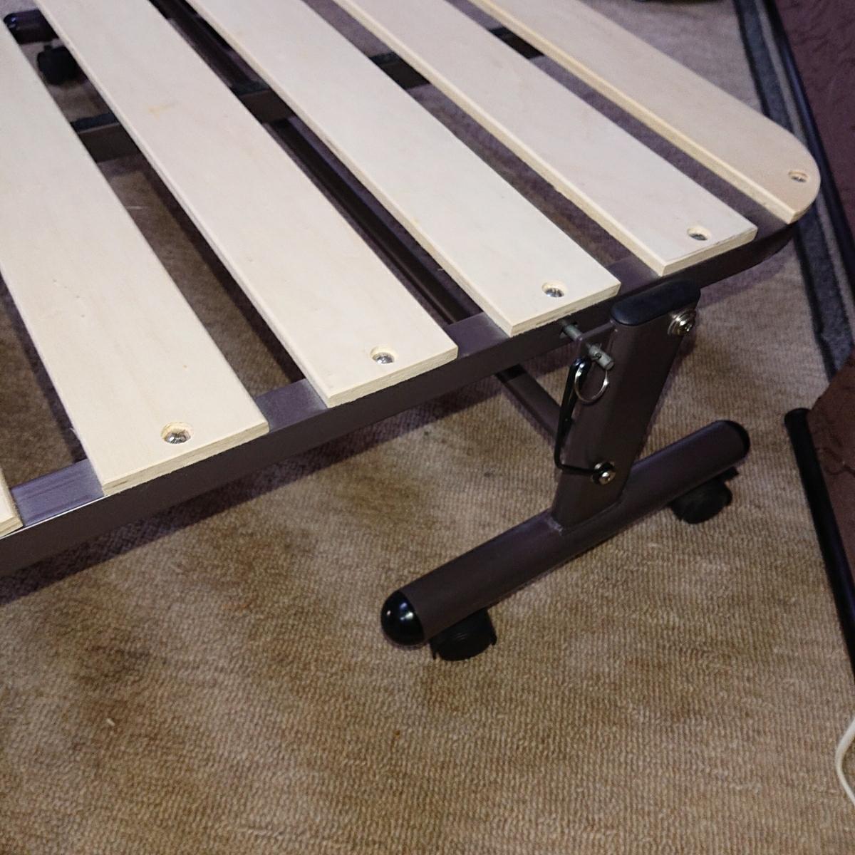 ニトリ 折り畳み ベッド 簡易ベッド すのこ式 中古_画像5