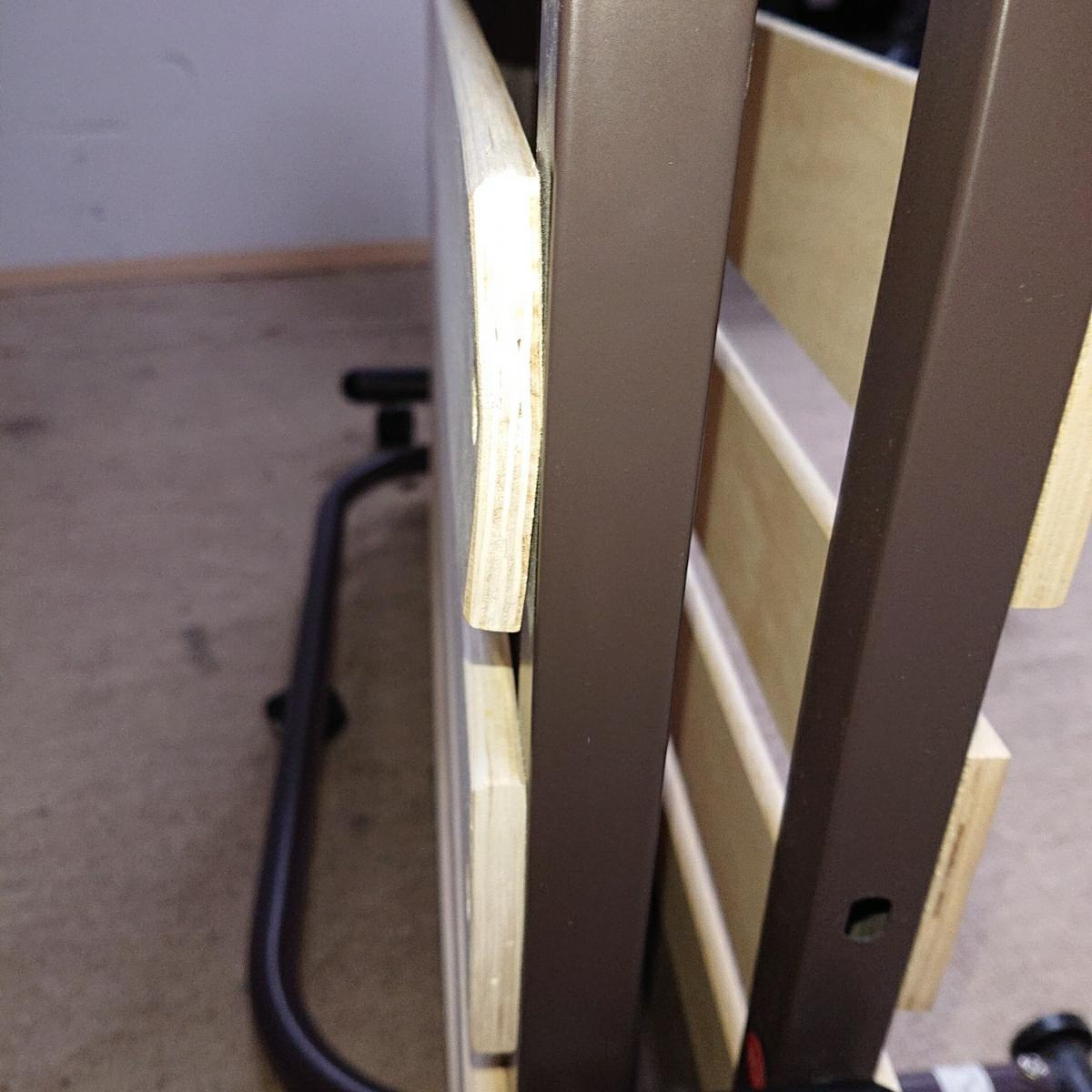 ニトリ 折り畳み ベッド 簡易ベッド すのこ式 中古_画像8
