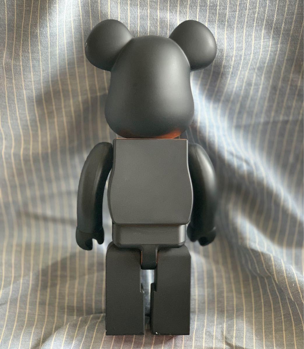 PORTER ポーター ベアブリック BE@RBRICK 400% ドール 人形 黒 オレンジ フィギュア 初代 _画像2