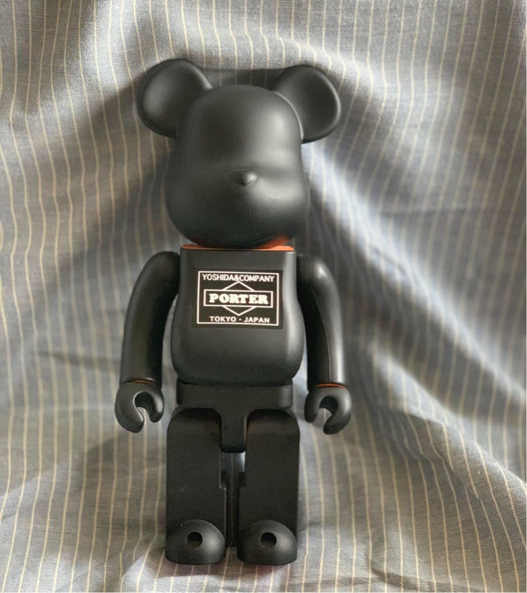 PORTER ポーター ベアブリック BE@RBRICK 400% ドール 人形 黒 オレンジ フィギュア 初代