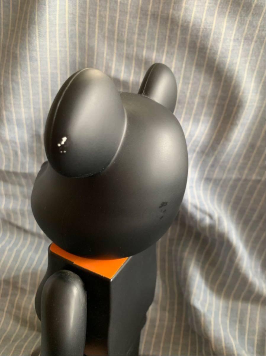 PORTER ポーター ベアブリック BE@RBRICK 400% ドール 人形 黒 オレンジ フィギュア 初代 _画像3