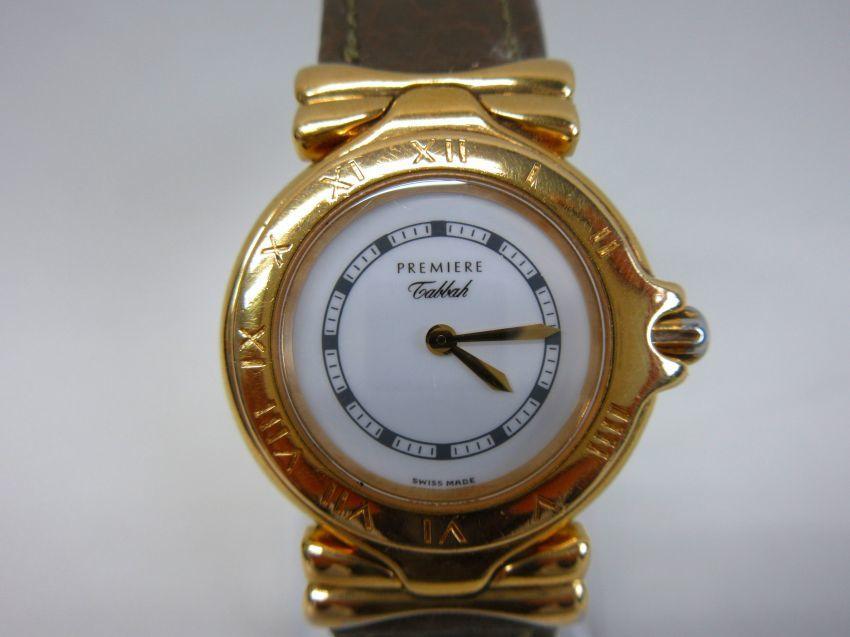 ●【Tabbah】タバー レディース クオーツ 腕時計 ゴールド・ホワイト 動作品●B6292_画像2