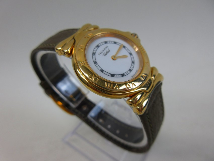 ●【Tabbah】タバー レディース クオーツ 腕時計 ゴールド・ホワイト 動作品●B6292