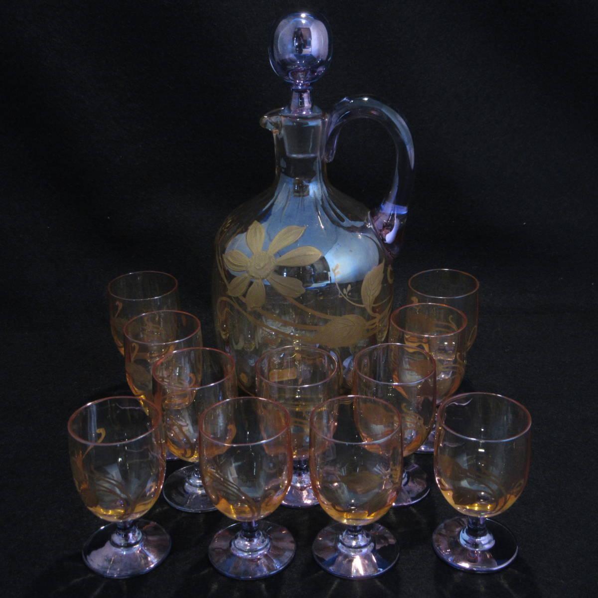 アンティークバカラ1890年頃 ラスター彩 グラス等 12点セット_画像1