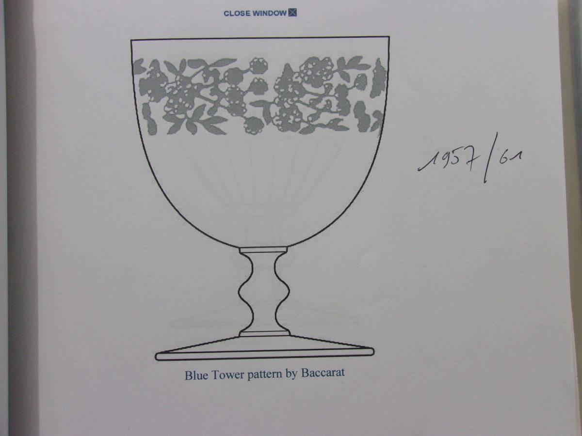 オールドバカラ1957~1961年「Blue Tower」ポートワイングラス_画像10