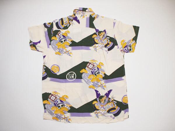 【PHERROWS】フェローズ アロハシャツ 兜 節句 着物 和柄 ◆Size:M_画像2