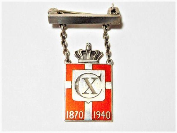 1940年 Georg Jensen ジョージジェンセン デンマーク王 10世 生誕記念品 ブローチ デンマーク製 /11462_画像2