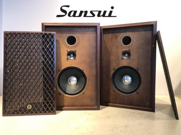valuable SANSUI landscape SP-50 Sansui 2WAY speaker system Old Sansui pair operation goods Vintage used