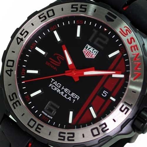 タグ・ホイヤー メンズ腕時計 フォーミュラー1アイルトン・セナエディション WAZ1014.FT8027 キタムラで購入2019年3月 新品未使用_画像2