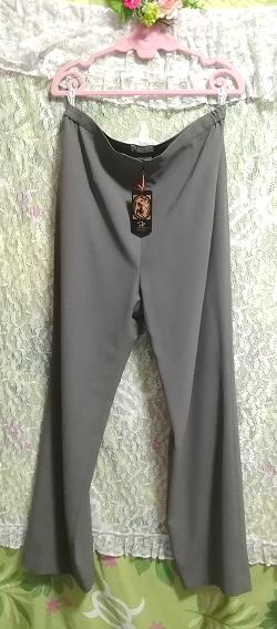 日本製灰グレーロングズボン定価20,790円タグ Made in japan ash gray long pants price 20,790 yen tag_画像2