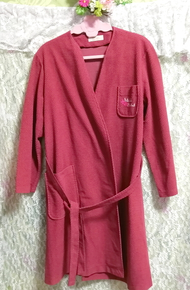 MICHELLE BERTHET 日本製ピンクローブ/カーディガン/羽織 Made in japan pink robe cardigan_画像4