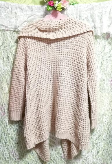 亜麻色ニットセーター/カーディガン/羽織 Flax color knit sweater cardigan_画像2