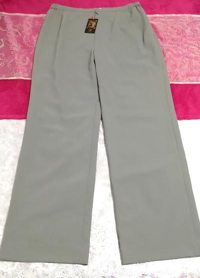 日本製灰グレーロングズボン定価20,790円タグ Made in japan ash gray long pants price 20,790 yen tag_画像1