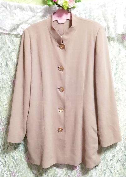 亜麻色綺麗ボタン/カーディガン/羽織 Flax color beautiful button cardigan_画像5