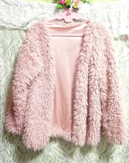 ピンクモコモコふわふわ/カーディガン/羽織 Pink mocomoco fluffy cardigan,レディースファッション&カーディガン&Mサイズ