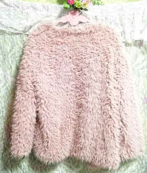 ピンクモコモコふわふわ/カーディガン/羽織 Pink mocomoco fluffy cardigan_画像3