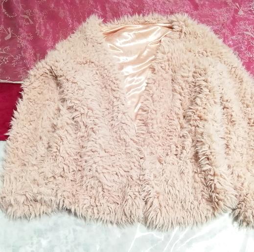 ピンクモコモコふわふわ/カーディガン/羽織 Pink mocomoco fluffy cardigan_画像4