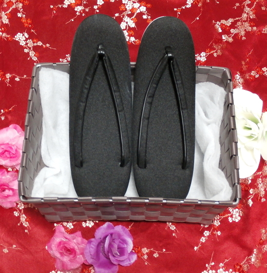 無地黒色/靴草履/和服 Black/shoes sandals/kimono 02_画像1