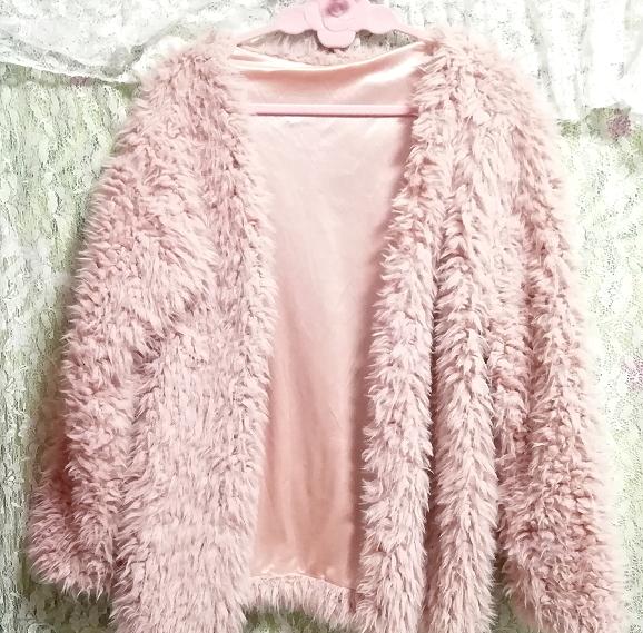 ピンクモコモコふわふわ/カーディガン/羽織 Pink mocomoco fluffy cardigan_画像2