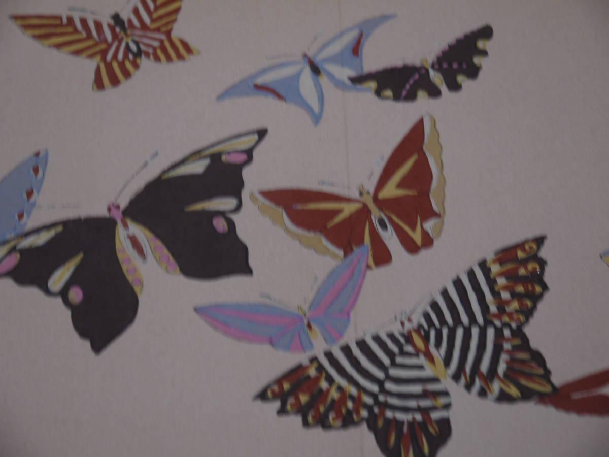 蝶千種 上下2冊 芸艸堂 昭和版 彩色木版刷り デザイン 木版画 和本 古文書_画像10