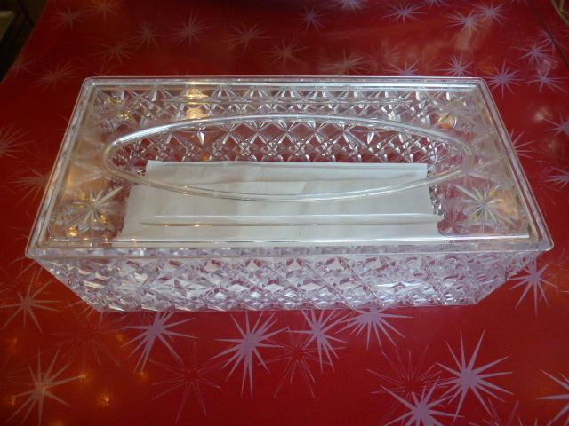 ビンテージ ティッシュケース 60'S ルーサイト 1963年 アメリカ ヴィンテージ TRELAWNEY レトロ アンティーク vintage プラスチック _画像1