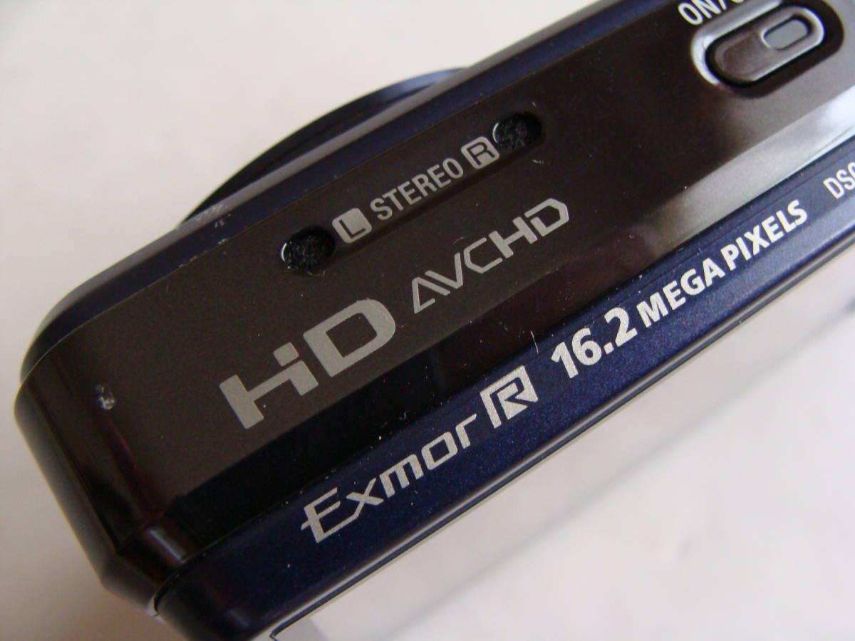 【静止画・動画作動確認済み 程度良し】ソニー DSC-HX7V(ダークブルー)_画像4