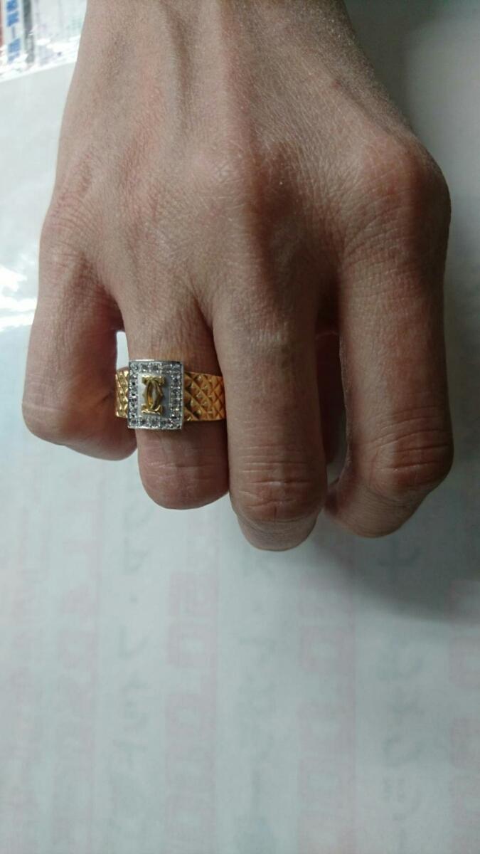 カルティエ 指輪18金、5.7㌘ 査定済_画像3