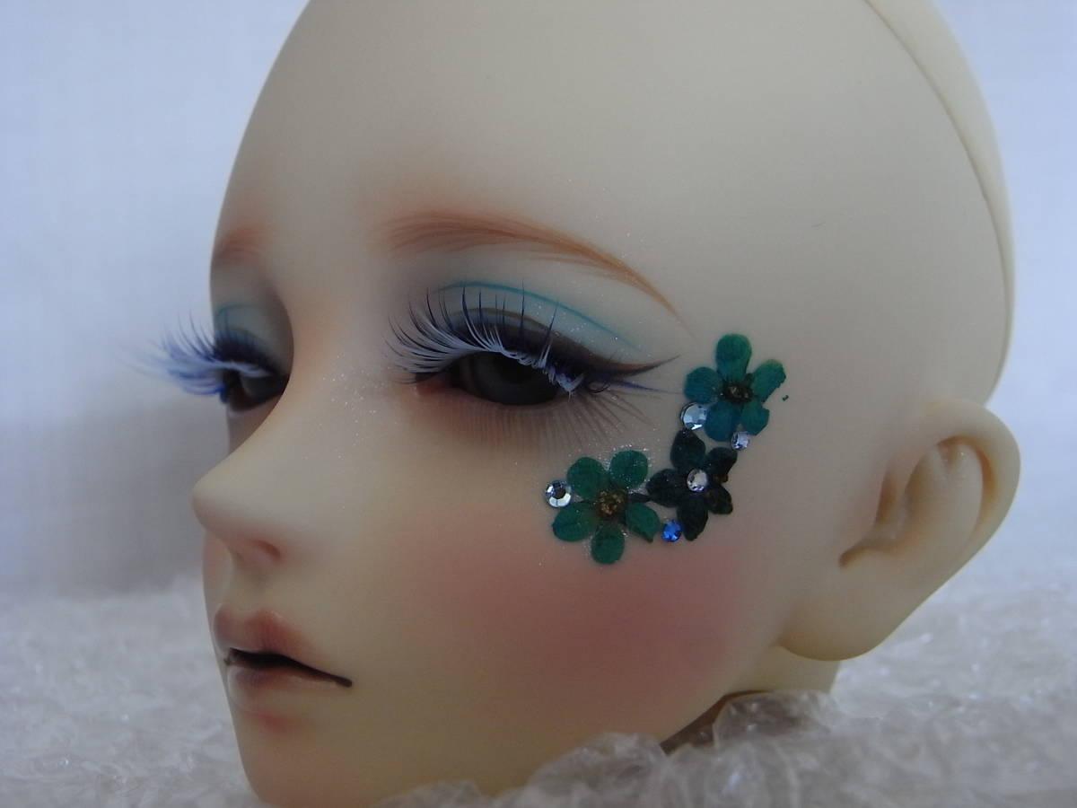 DOLL Head(60㎝級)カスタマー様メイク(新品) / 球体関節人形  SD13_天然素材の花びらのデコレーション。