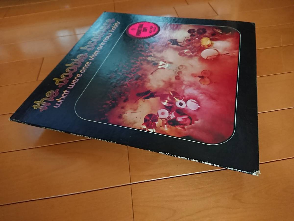 US白プロモLP 1974年 ドゥービーブラザーズ The Doobie Brothers「What Were Once Vices Are Now Habits」(Warner)PROMO,ドゥービー天国_角打ちあり