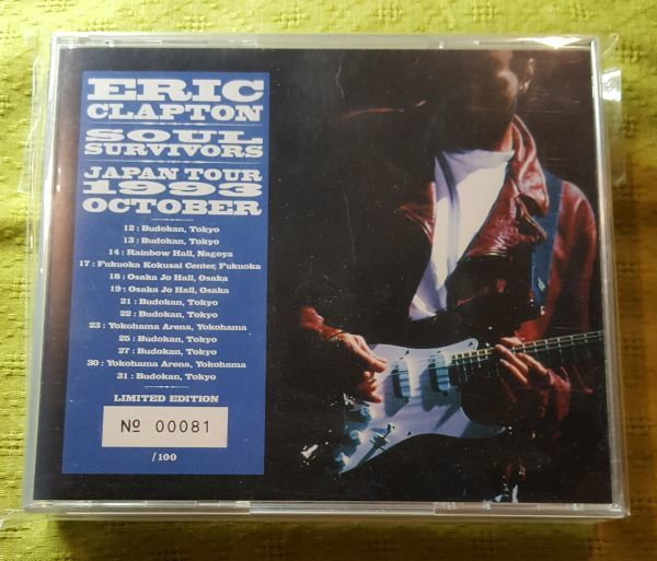 ERIC CLAPTON / SOUL SURVIVORS (4CD) LIMITED NUMBERED EDITION 100 COPIES ONLY (MID VALLEY)