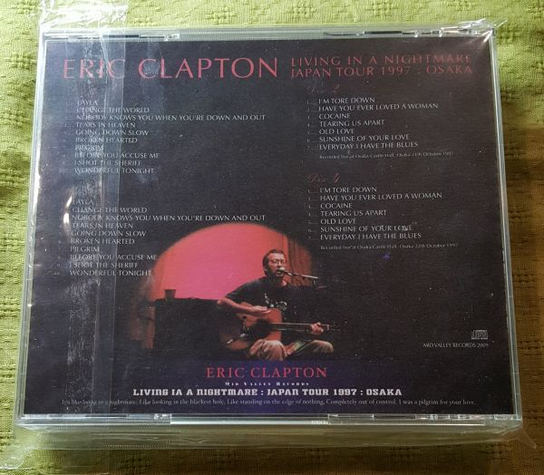 ERIC CLAPTON / LIVING IN A NIGHTMARE OSAKA 1997 (4CD) MID VALLEY_画像2