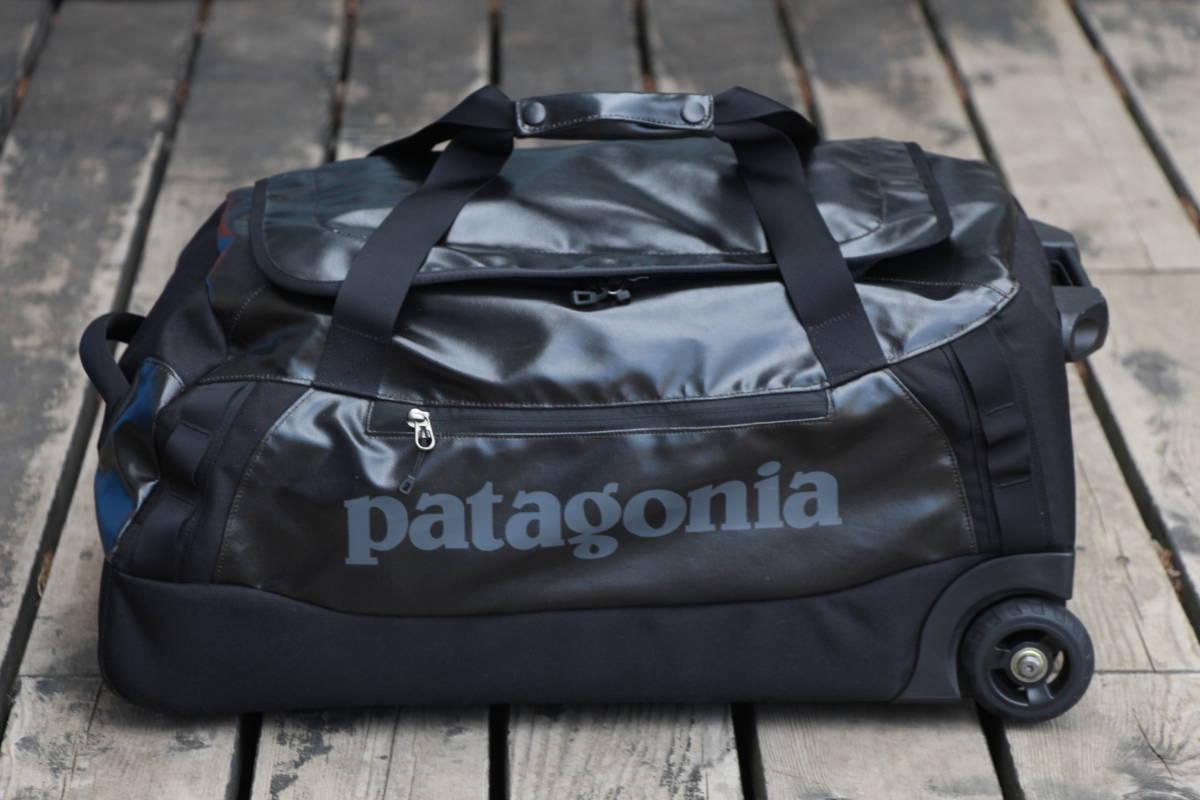 美品 PATAGONIA パタゴニア キャリー バッグ トローリー 旅行用 ブラックホール ウィールド ダッフル 45 アウトドア キャンプ スノーボード_画像3