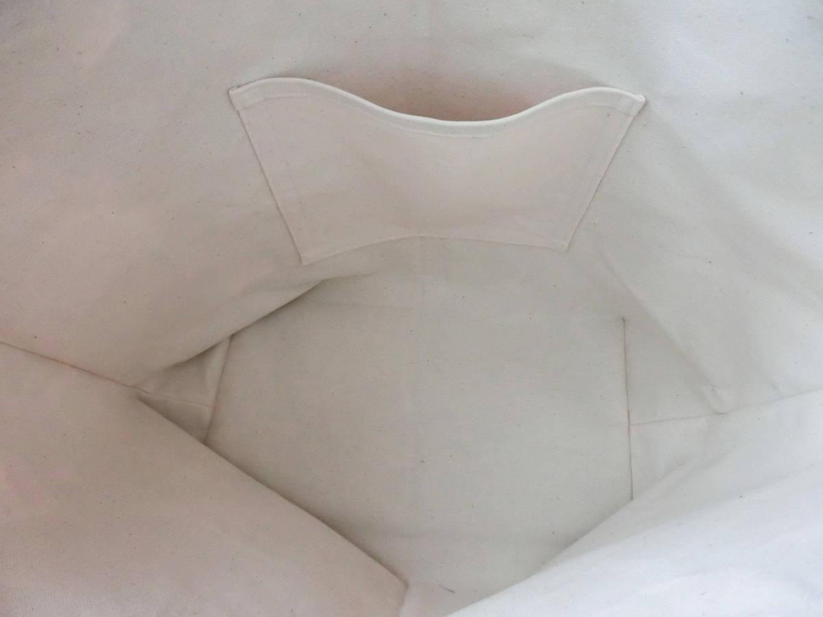 特大サイズ トートバッグ 11号帆布*銘柄*ラベル*レトロ*きなり 肩掛け可能 ハンドメイド マザーズバッグ 綿 帆布 モノトーン L _画像8