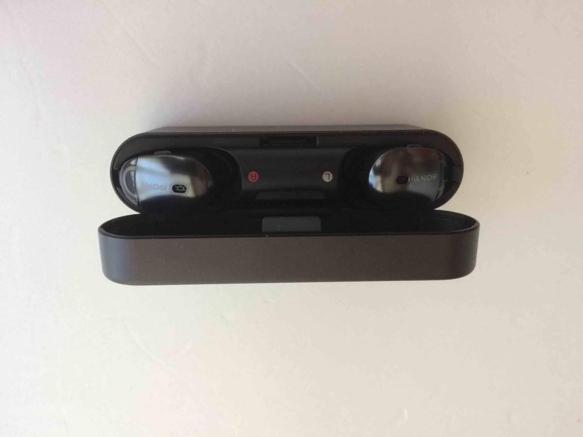 ★【未使用・展示品・箱なし】SONY WF-1000X ブラック Bluetoothワイヤレスイヤホン_画像2