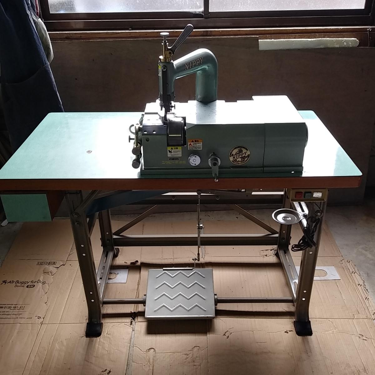 程度良しNIPPI NP2 革漉き機 実働品 整備済 保証有り