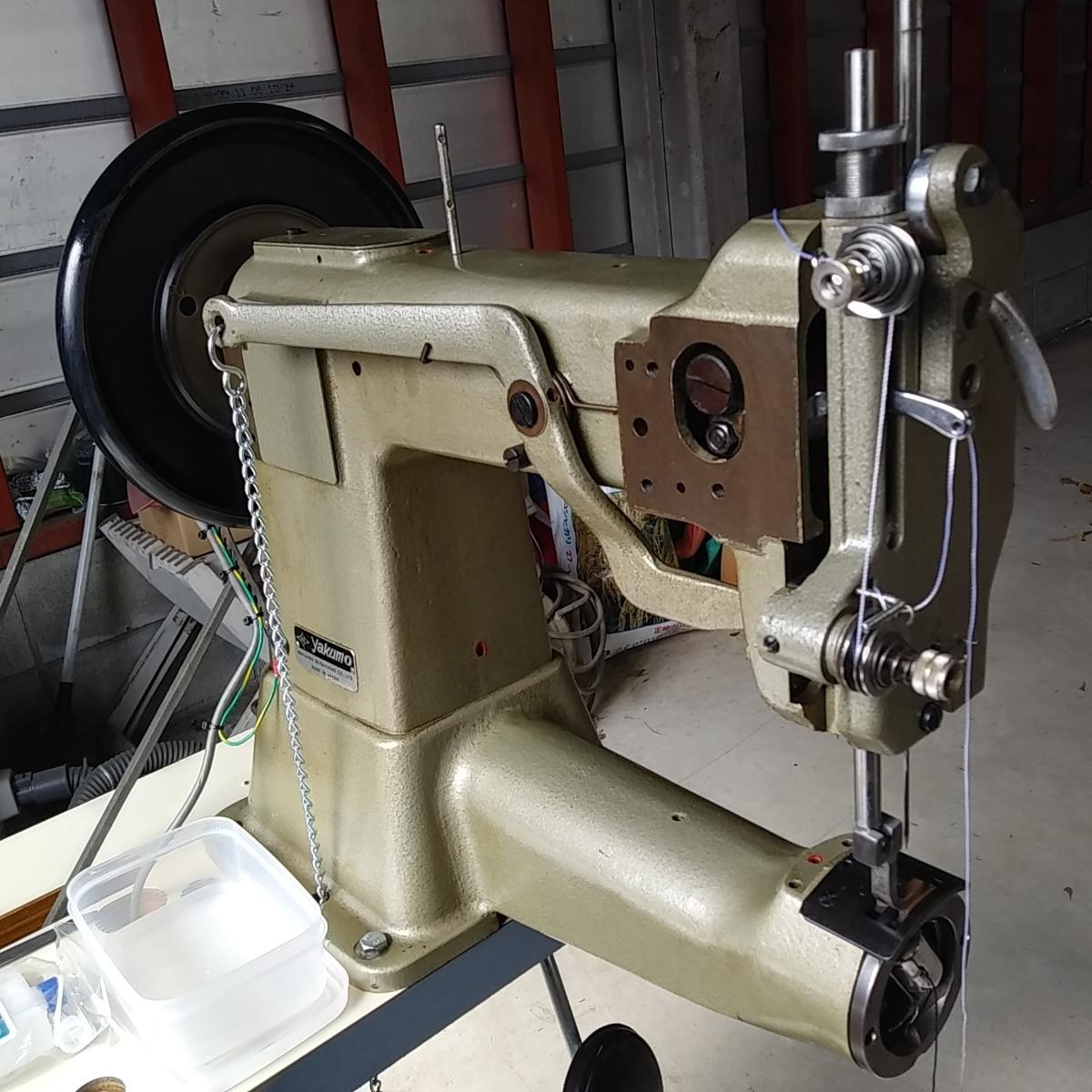 超貴重 保証有り ヤクモ 45ミシン 実働品 調整済 腕ミシン_画像6