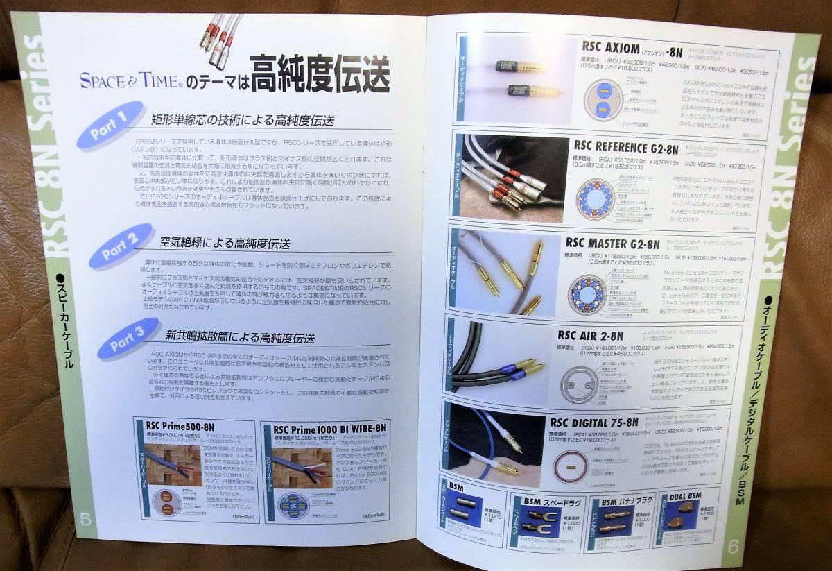 【即決・送料無料】TARA LABS SPACE&TIME ケーブル総合カタログ May 2000 1部 _画像5