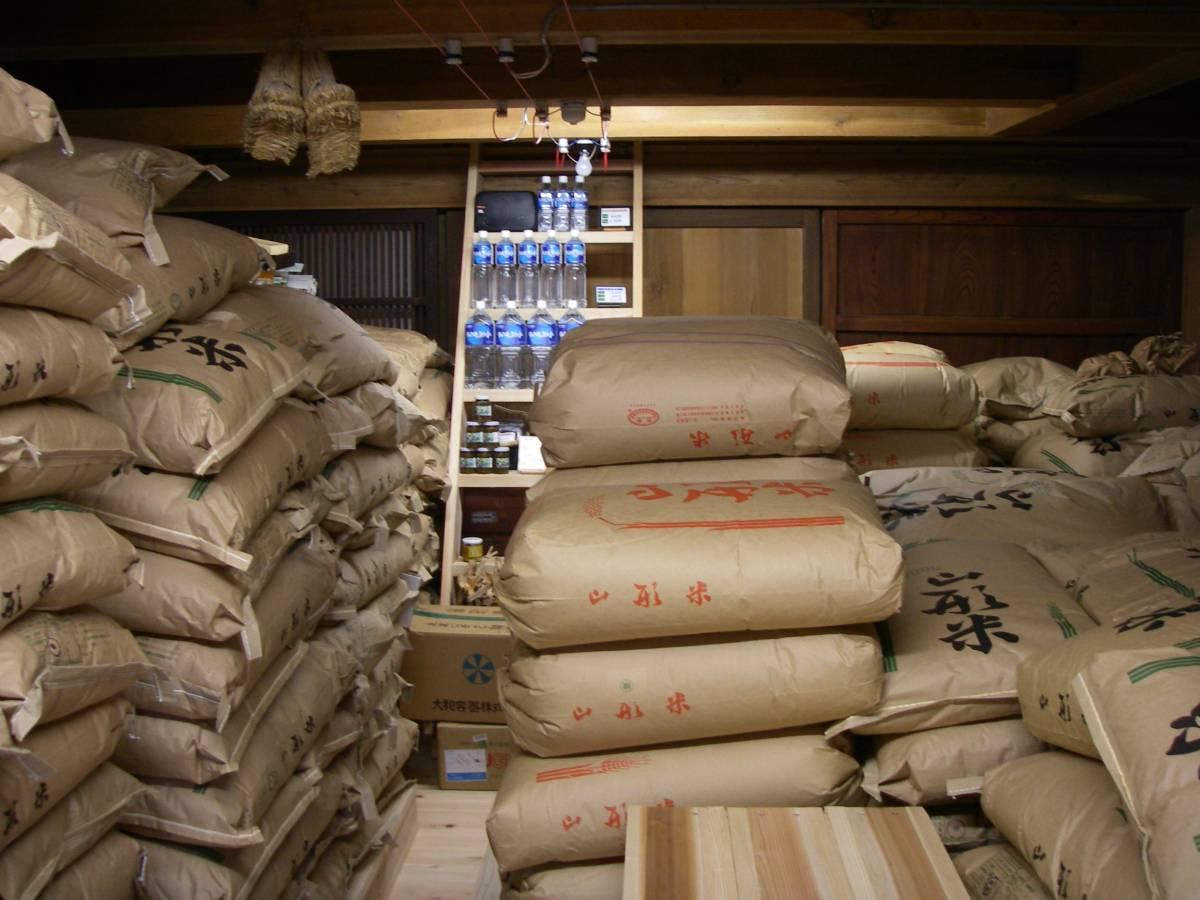 エアコン管理の土蔵でお米を管理しています