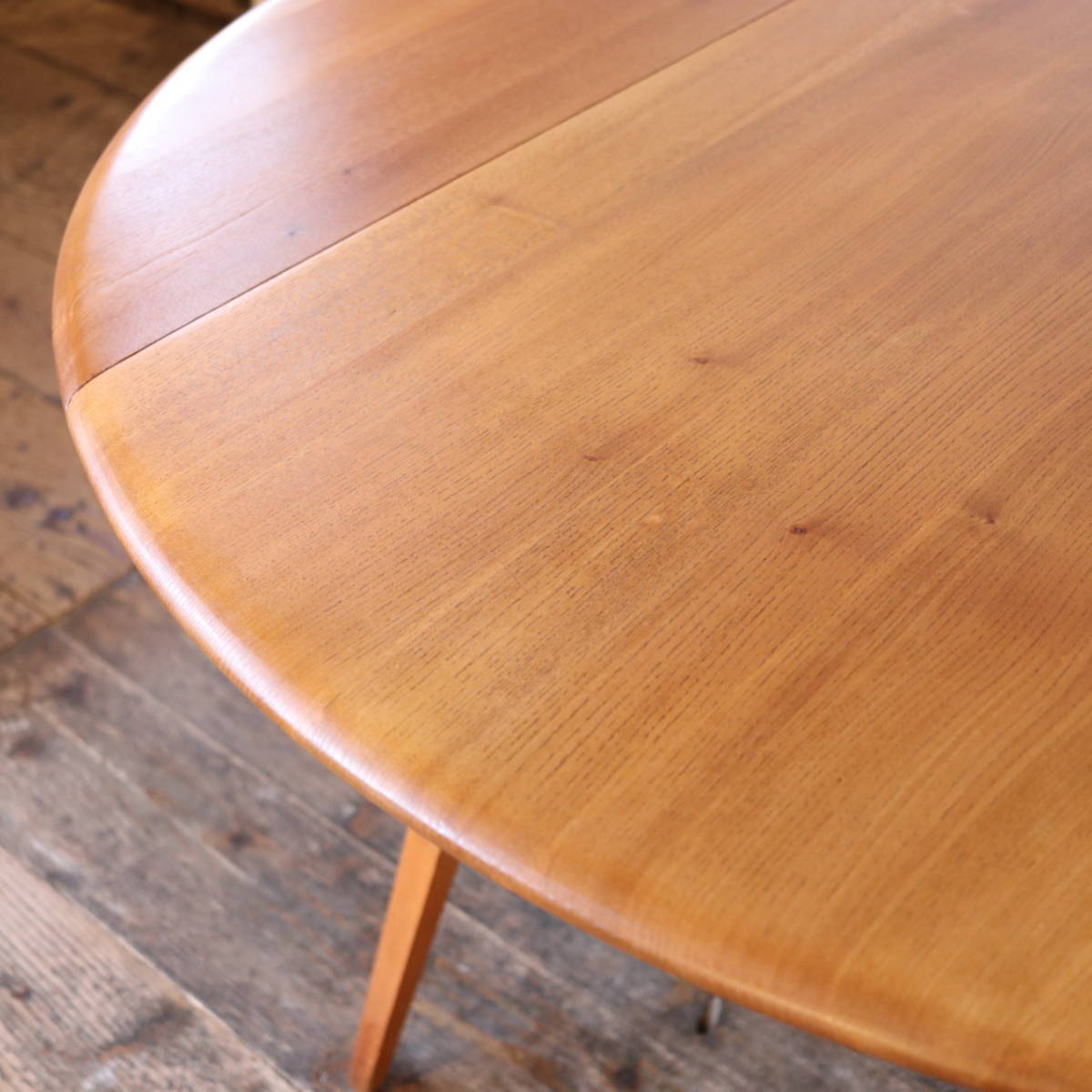 【天板剥離・塗装済】美品 イギリス ERCOL ビンテージ ドロップリーフテーブル/G PLAN テーブル アーコール アンティーク 北欧 店舗什器_画像7