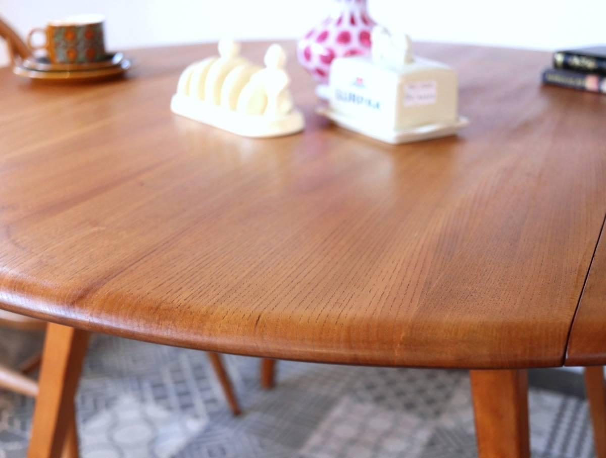 【天板剥離・塗装済】美品 イギリス ERCOL ビンテージ ドロップリーフテーブル/G PLAN テーブル アーコール アンティーク 北欧 店舗什器_画像6