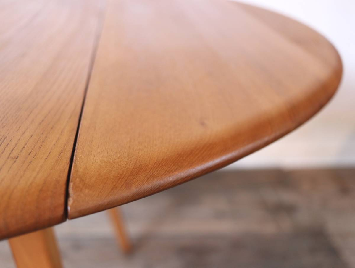 【天板剥離・塗装済】美品 イギリス ERCOL ビンテージ ドロップリーフテーブル/G PLAN テーブル アーコール アンティーク 北欧 店舗什器_画像8
