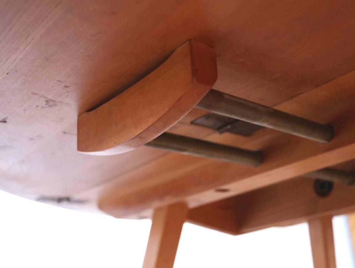 【天板剥離・塗装済】美品 イギリス ERCOL ビンテージ ドロップリーフテーブル/G PLAN テーブル アーコール アンティーク 北欧 店舗什器_画像9