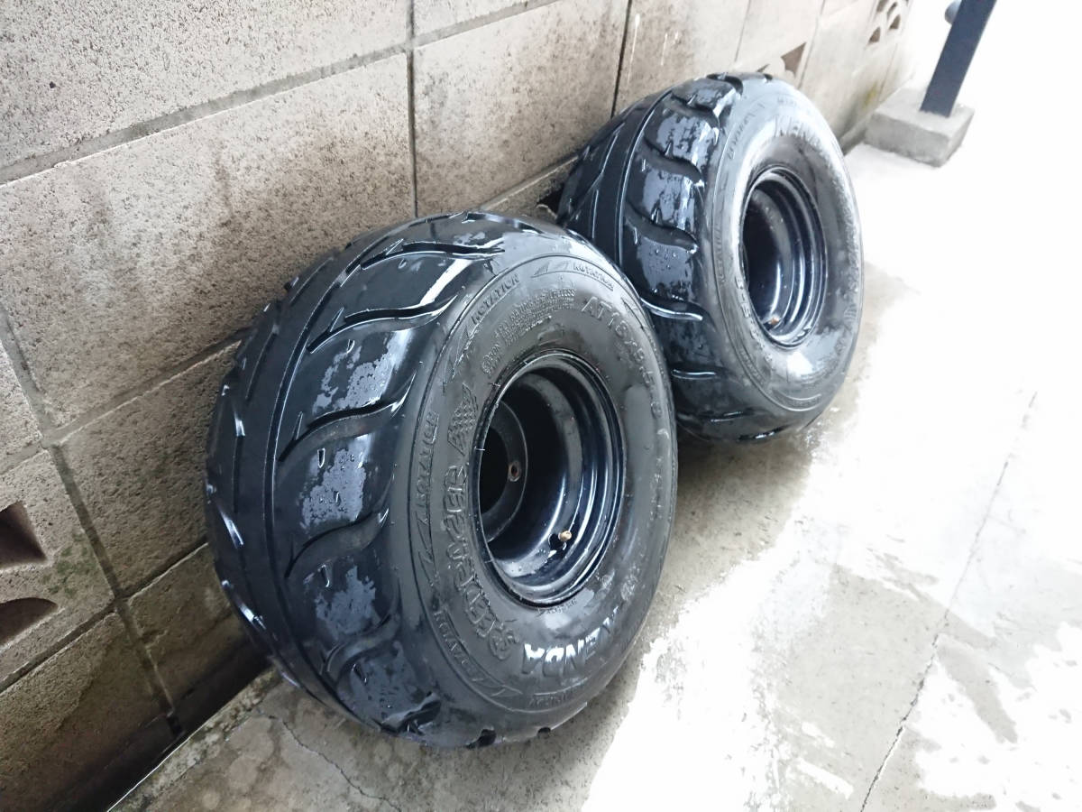 ケンダ スピードレーサー KENDA Speed Racer 18×9.5-8 2本セット タイヤ ATV バギー ジャイロ 等_画像2
