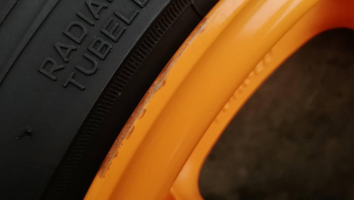 【希少】RAYS CE28N 17インチ 9J +54 5H 114.3 鍛造 4本同サイズ オレンジ(塗装品) タイヤ:NS-2R(おまけ) S2000 DC5 FD2 RX-8 など_画像7